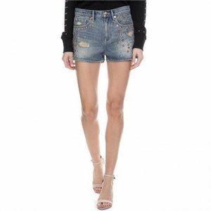 Juicy Couture Mixed Metal Studded Shorts